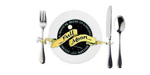 Full Moon Catering logo:plates with silverware