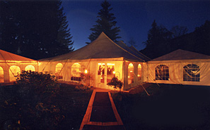 Evening at the Full Moon Resort Tent Pavilion