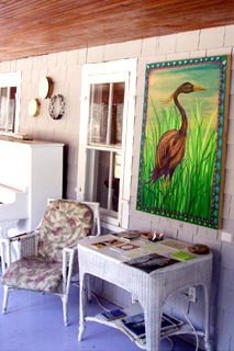 Valley View House:porch,heron