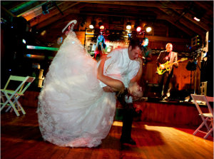 couple dancing-Catskill Mountain Wedding at Full Moon Resort