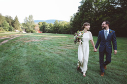 Catskill wedding couple