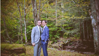 September Wedding- gay wedding couple