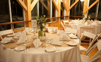 New Years Eve Wedding Settings in Spruce Barn-