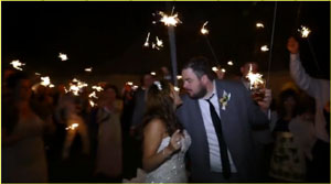 Wedding couple sparklers!