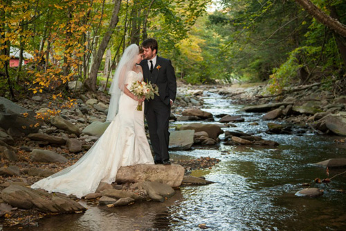 Catskills Wedding - along the Esopus creeek