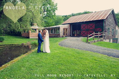Catskill Mountain Wedding at Full Moon Resort- together near the barn