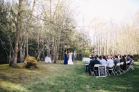Early Spring Wedding - Ceremony by the Creek