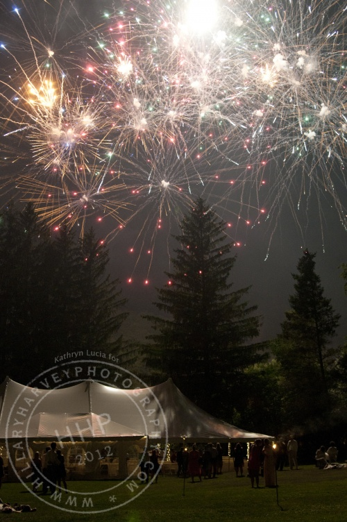 Catskill Mountain Wedding at Full Moon Resort- fireworks over tent