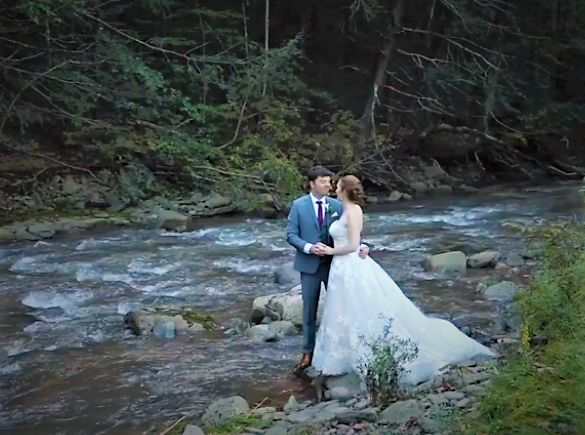 Esopus Creek bridal couple