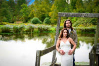 September Wedding- by the duck pond