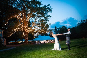 Catskill Mountain Wedding at Full Moon Resort- dancing on the lawn