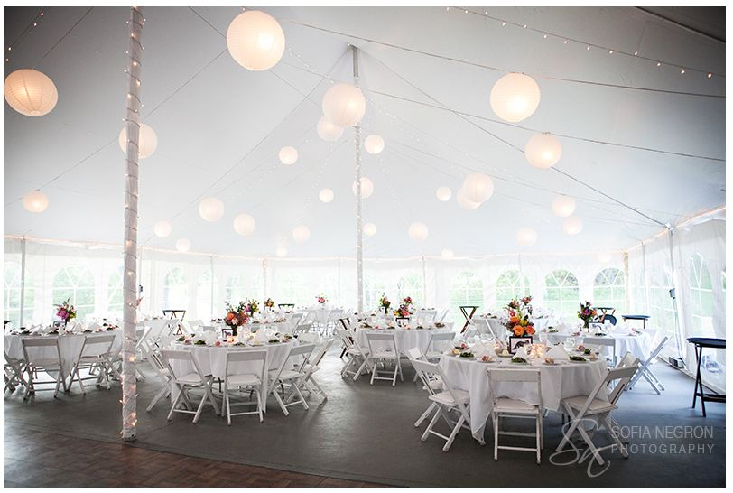 Interior of the big top bfr wedding- at Full Moon Resort