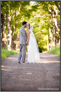 couple by the pond-Catskill Mountain Wedding