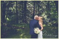 Catskills Wedding- kiss in the trees