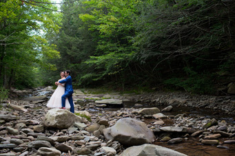 August  wedding -Esopus Creek