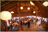 Early Spring Wedding at Full Moon Resort- Kiss in the Wedding Barn