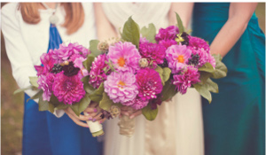 vibrant florals-Catskill Mountain Wedding at Full Moon Resort