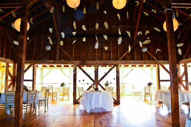Catskill Barn Wedding at Full Moon Resort- walk in the woods