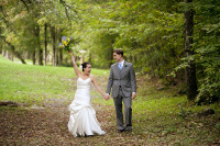 Catskill Mountain Wedding at Full Moon Resort- walk in the woods