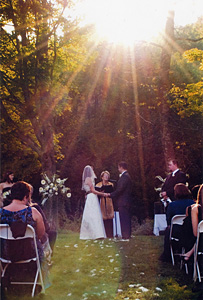 Wedding image:vow in meadow