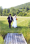 Wedding image: meadow stroll